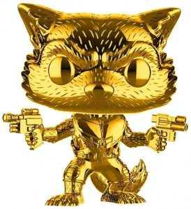 FUNKO POP de Rocket Racoon Chrome Gold - Los mejores FUNKO POP de Marvel - FUNKO POP de Chrome