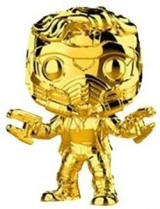 FUNKO POP de Star Lord Chrome de Marvel Studios 10 - Los mejores FUNKO POP Chrome dorado