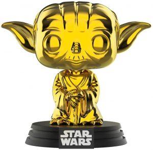 FUNKO POP de Yoda Chrome dorado - Los mejores FUNKO POP Chrome