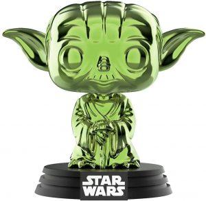FUNKO POP de Yoda Chrome verde - Los mejores FUNKO POP Chrome