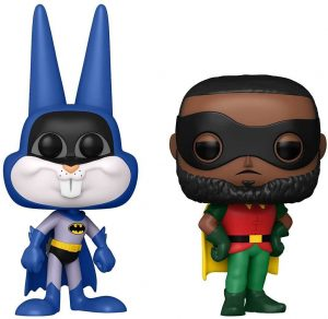 FUNKO POP de Bugs Bunny de Batman y Lebron James de Robin en Space Jam 2