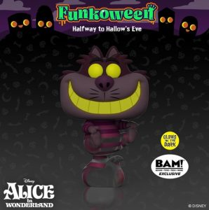 FUNKO POP de gato Cheshire Glows de Alicia en el país de las Maravillas de FUNKOWEEN 2021 - Los mejores FUNKO POP de FUNKOWEEN - FUNKO POP de FUNKOWEEN Día 5