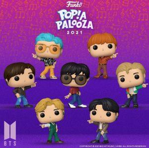 FUNKO POP de BTS Dynamite de POP A PALOOZA 2021 - Convenciones FUNKO POP de POP A PALOOZA 2021