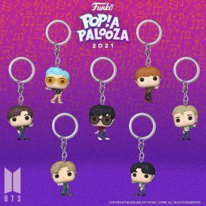 FUNKO POP de BTS Dynamite llaveros de POP A PALOOZA 2021 - Convenciones FUNKO POP de POP A PALOOZA 2021