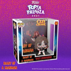 FUNKO POP de Ozzy Osbourne Diary of a Madman de POP A PALOOZA 2021 - Convenciones FUNKO POP de POP A PALOOZA 2021