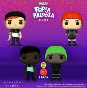 FUNKO POP de Twenty One Pilots de POP A PALOOZA 2021 - Convenciones FUNKO POP de POP A PALOOZA 2021