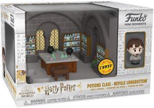 FUNKO Mini Moments de Neville Longbottom Chase - Diorama FUNKO Mini Moments de Harry Potter de la clase de pociones - Potions Class