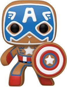 FUNKO POP de Capitán América de Gingerbread de Navidad - Los mejorea FUNKO POP de Marvel de Gingerbread de Marvel Holiday