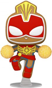 FUNKO POP de Capitana Marvel de Gingerbread de Navidad - Los mejorea FUNKO POP de Marvel de Gingerbread de Marvel Holiday